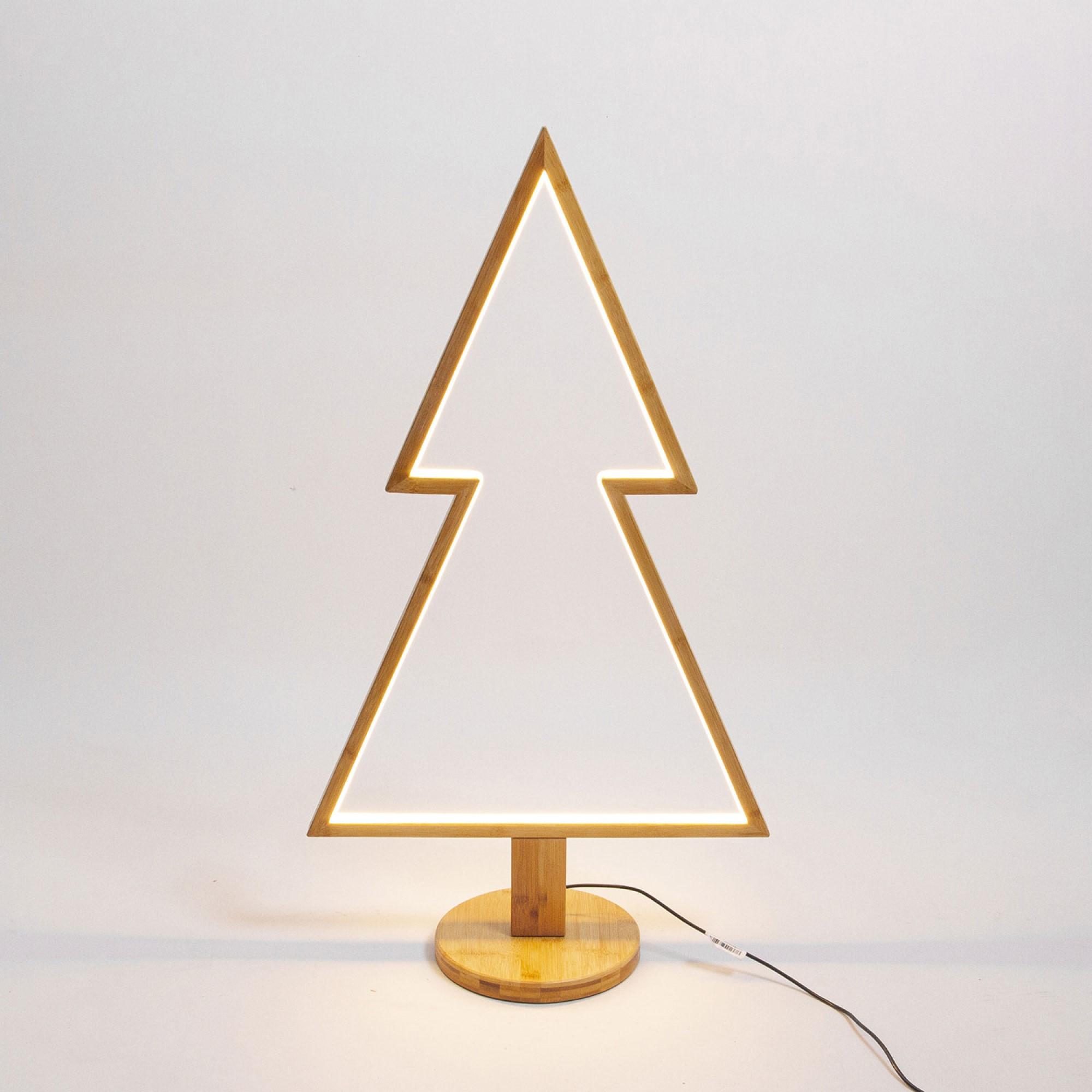 Lotti LED-Weihnachtsbaum, Holz, 3000K, 90cm, IP20 58682