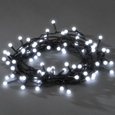 LED Lichterkette, 80 runde Dioden warmwei�