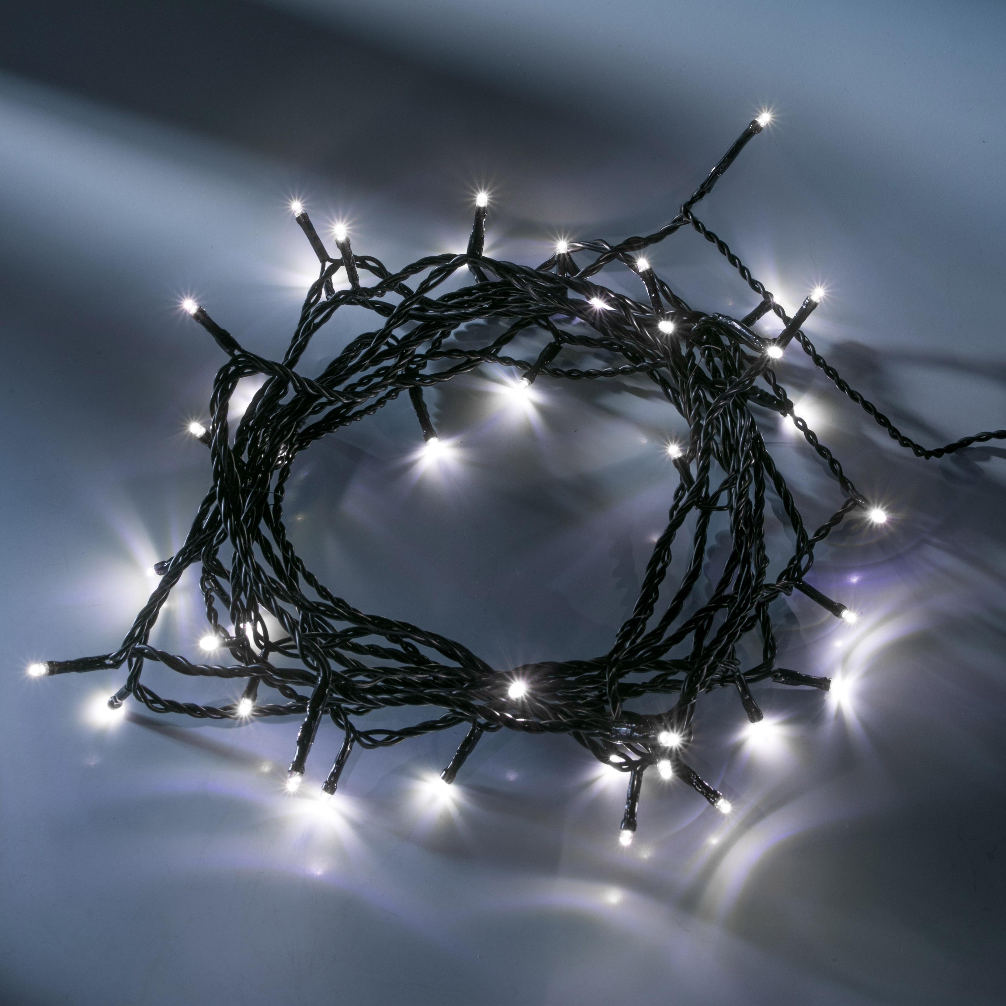 Konstsmide LED-Lichterkette, weiß, 16m, 40 LEDs 3610-200