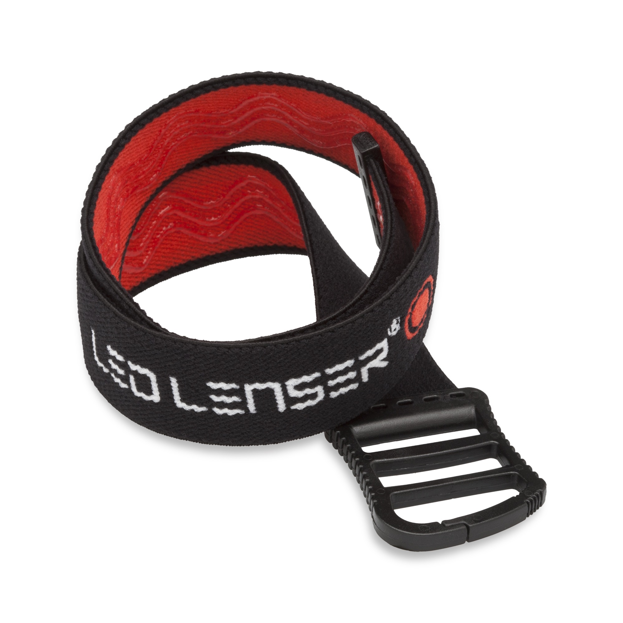 Ledlenser gummiertes Helmband schwarz-rot 0394