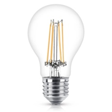 Philips Classic LEDbulb 6-60W E27 827 A60 clear FIL, Item no. 74913