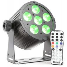 BeamZ BAC406 LED ProPAR 6x18W 6-1 HEX DMX IR, Item no. 30395