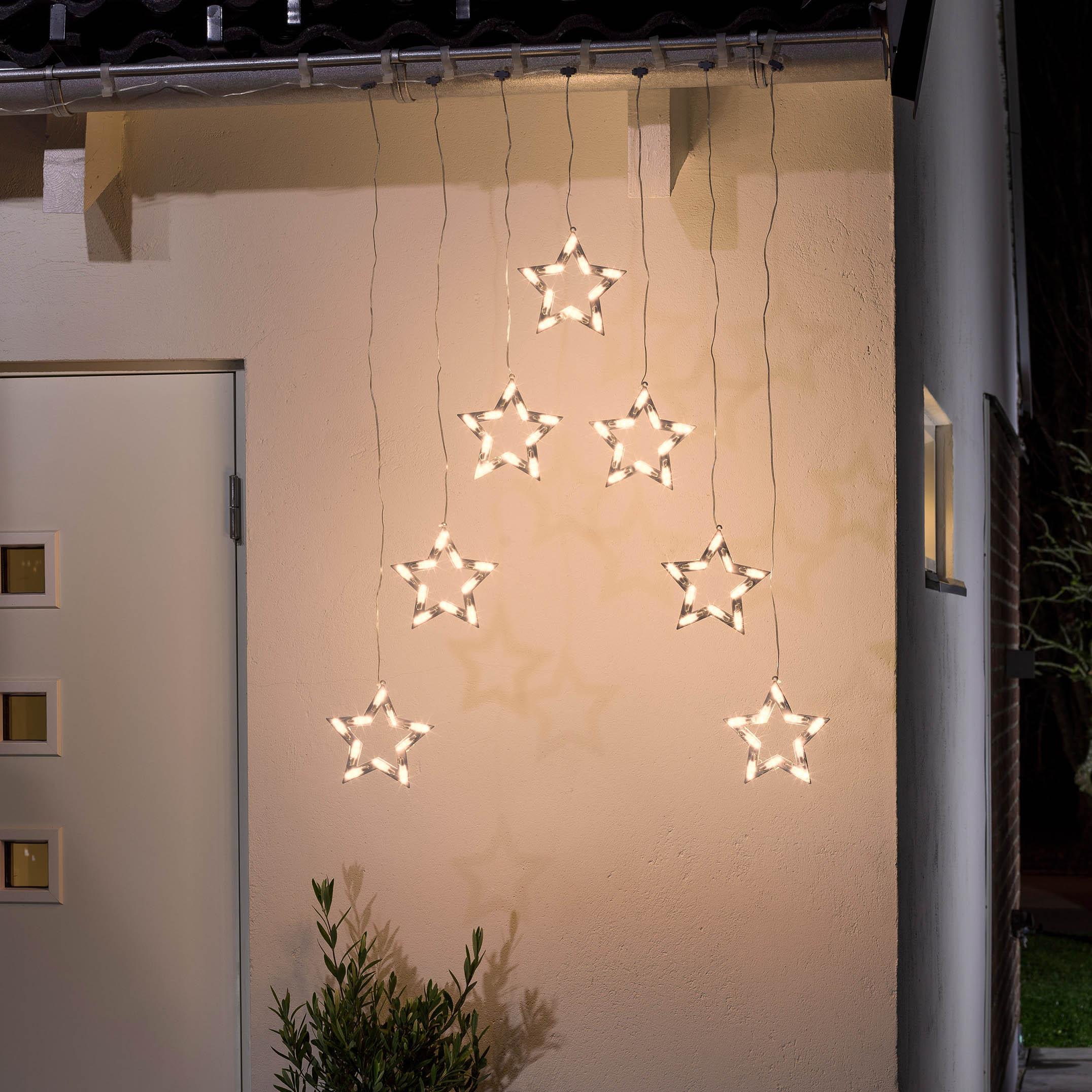 Konstsmide LED-Lichtervorhang mit 7 Sternen 4043-103