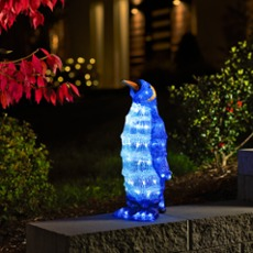 Small LED penguin, 96 white LEDs