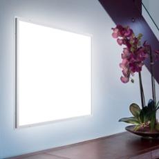 Ultraslim LED Panel Professional silber 62 x 62cm, warmwei� Rahmen: silber, Licht: warmwei�