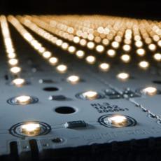 LED Matrix warmwei� 12V 3x3, 81 LEDs (1.260lm)