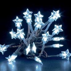 Batteriebetriebene Stern-Lichterkette - 20 LEDs wei�