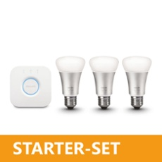 Philips hue 10W A60 E27 Starter Set with Bridge 2.0, Item no. 70551