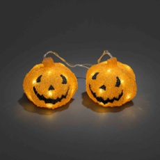 LED acrylic pumpkin, Set of 2, with 6h Timer, Item no. 30763