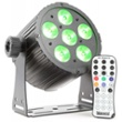 BeamZ BAC406 ProPar 6x18W 6-1 HEX DMX IR, Item no. 30395