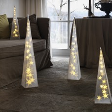 LED Plastic Pyramid 45cm (16 LEDs)
