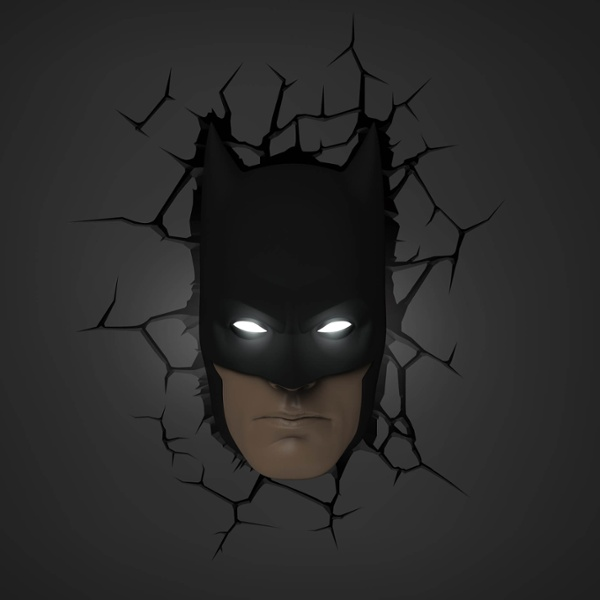 3d Wall Decor Lights : D wall light batman mask the leading led by lumitronix