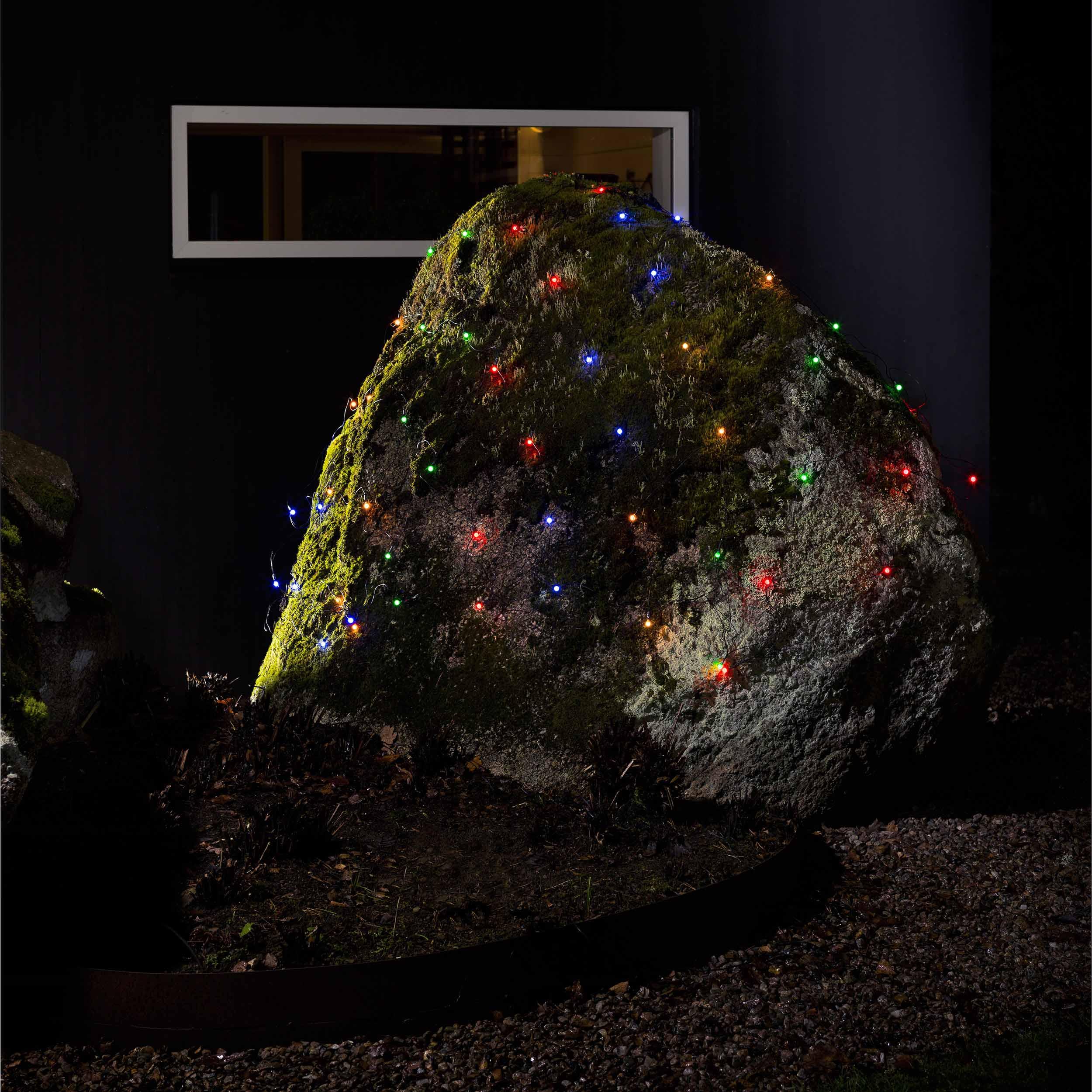 Konstsmide LED-Lichternetz, 80 bunte Globes 3679-507
