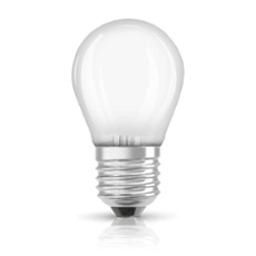 Osram LED SUPERSTSTAR RETROFIT frosted DIM CLP 40 4,5W 827 E27, Item no. 75068