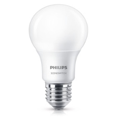Philips SceneSwitch LEDbulb 8-60W E27 827 A60 diffuse, Item no. 74951