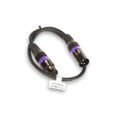 Accu Cable AC-DMX3/0,5 3 p. XLRm/3 p. XLRf 0,5m DMX, Item no. 30914