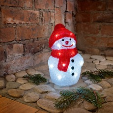 LED Snow Man, 20 coldwhite LEDs