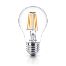 Philips Classic LEDbulb 7.5-60W E27 827 A60 CL FIL ND, Item no. 74242