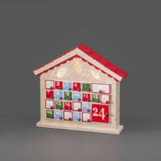 LED wooden calendar with 24 drawers, with remote, Item no. 30758