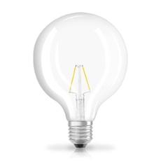 Osram LED RETROFIT GLOBE25 2W E27 clear non dim, Item no. 73433