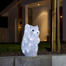 LED Squirrel, 32 Cold White LEDs