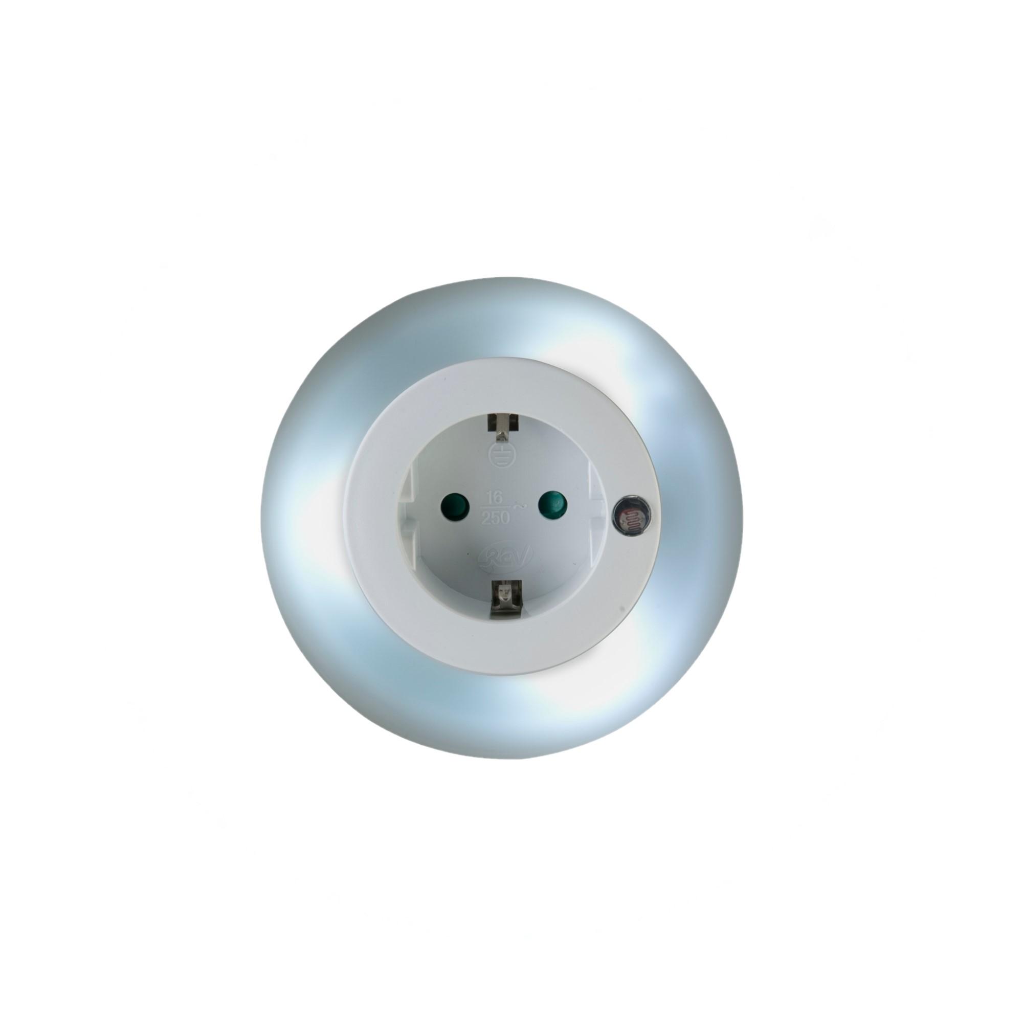 REV Ritter GmbH REV LED-Nachtlicht mit Steckdose, rund 00337173
