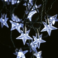 LED fairy light star-shape - 40 LEDs warmwhite