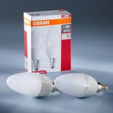 Osram Star Classic E14 LED Kerze 6W, warm white, Duo Pack, Item no. 73402