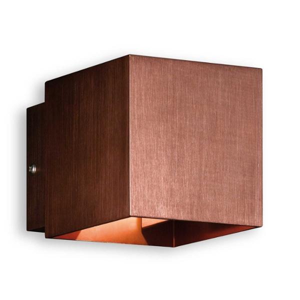 honsel wandleuchte box kupfer kupfer im f hrenden led. Black Bedroom Furniture Sets. Home Design Ideas