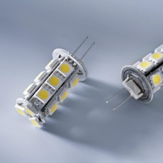 G4 bulbs capsule 18 LEDs, 2.6W, 12V, Item no. 70950