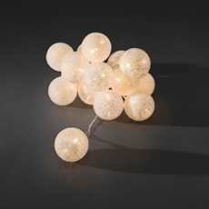 Decorative LED light set with cotton balls, 6cm multicolour