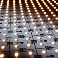 LED Matrix mini, 24V warmwhite, 9x14, 504 LEDs, 3500K 9x14, 504 LEDs (8316lm), 3500K