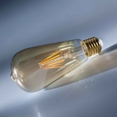 Osram LED VINTAGE 1906 ST64 35 4W E27 GOLD non dim, Item no. 73447