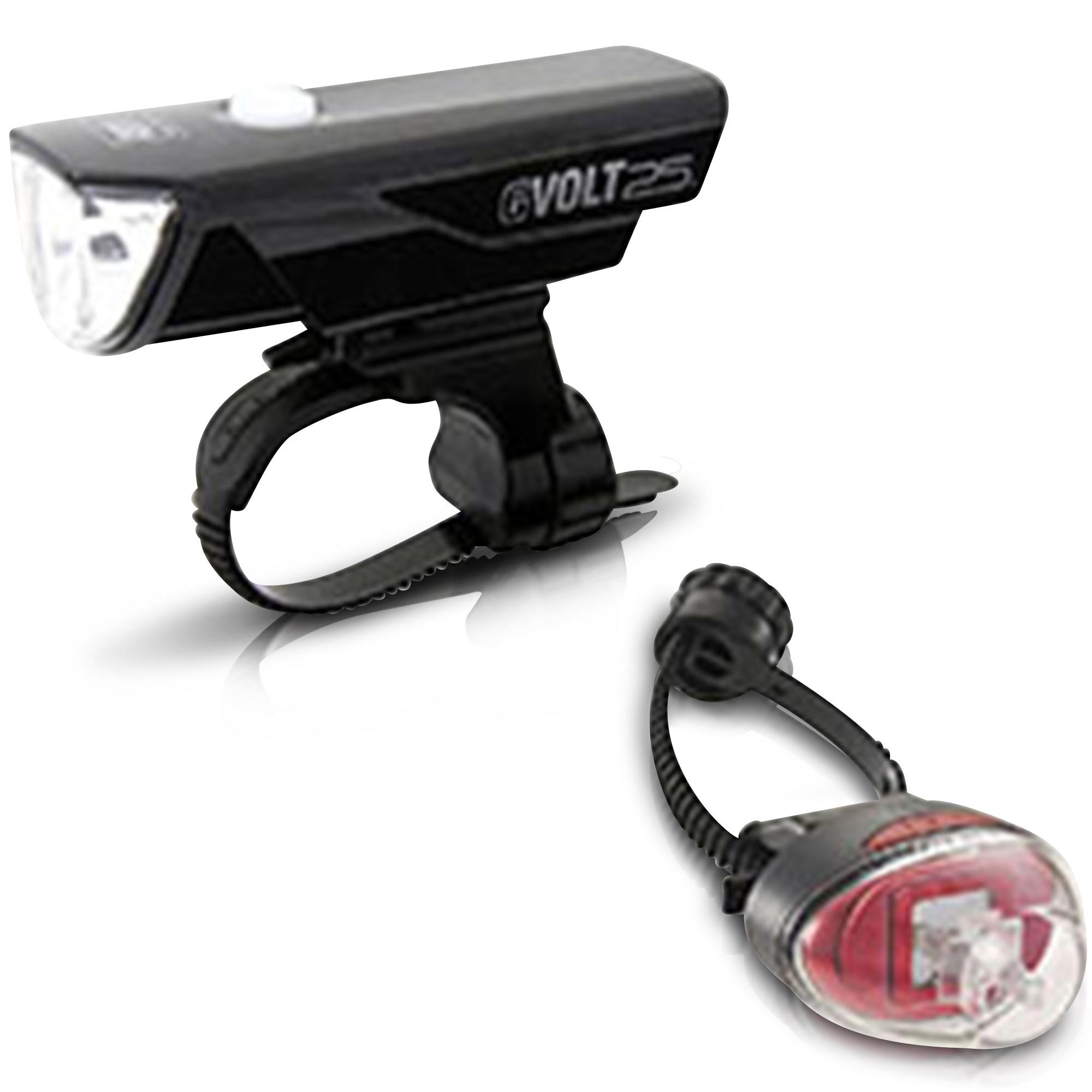 CatEye Co., LTD Cateye GVolt 25 RC Kit - HL-EL360GRC + TL-LD611G LED-Fahrrad-Lichtset