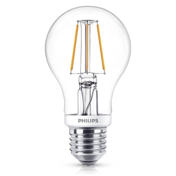 philips classic ledbulb 5 40w e27 827 a60 clear fil dimtone the leading led shop by lumitronix. Black Bedroom Furniture Sets. Home Design Ideas