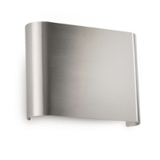 Philips myLiving wall light Galax 13cm steel brushed steel brushed