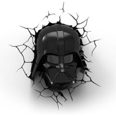 3D Wall light Star Wars Darth Vader Mask