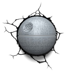 3D Wall light Star Wars Deathstar