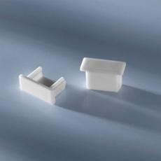 Closed end cap for aluminium profile low