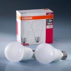 Osram Star Classic E27 LED Lampe 10W, warm white, Duo Pack, Item no. 73403