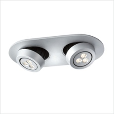PODIUM Porto LED downlight 2x7.5W