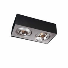 Lirio ceiling light Bloq, 2 spotlights
