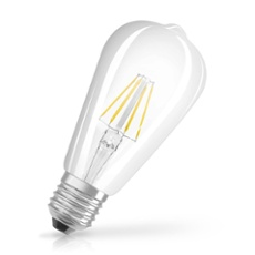 Osram LED RETROFIT CL EDISON 60 6W 827 E27, Item no. 73419