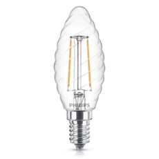 Philips Classic LEDcandle 2-25W E14 827 ST35 clear