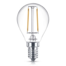 Philips Classic LEDluster 2-25W E14 827 P45 clear, Item no. 74932