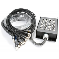 PD Connex Stage Snake 12 + 4 XLR 15m 18mm, ArtNr. 30437