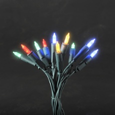 LED Mini Chain of Lights, multi-coloured 2.85m (10 LEDs)