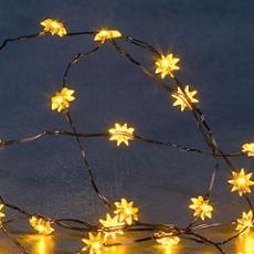 Blinking LED Fairylight(stars), 20 yellow LEDs
