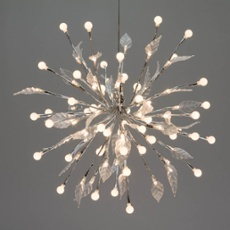 LED lightball, 100 LEDs, with leaves, Item no. 30293