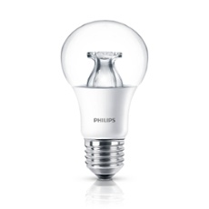 Philips CorePro LEDbulb 9,5-60W 827 E27 NON DIM clear, Item no. 74219